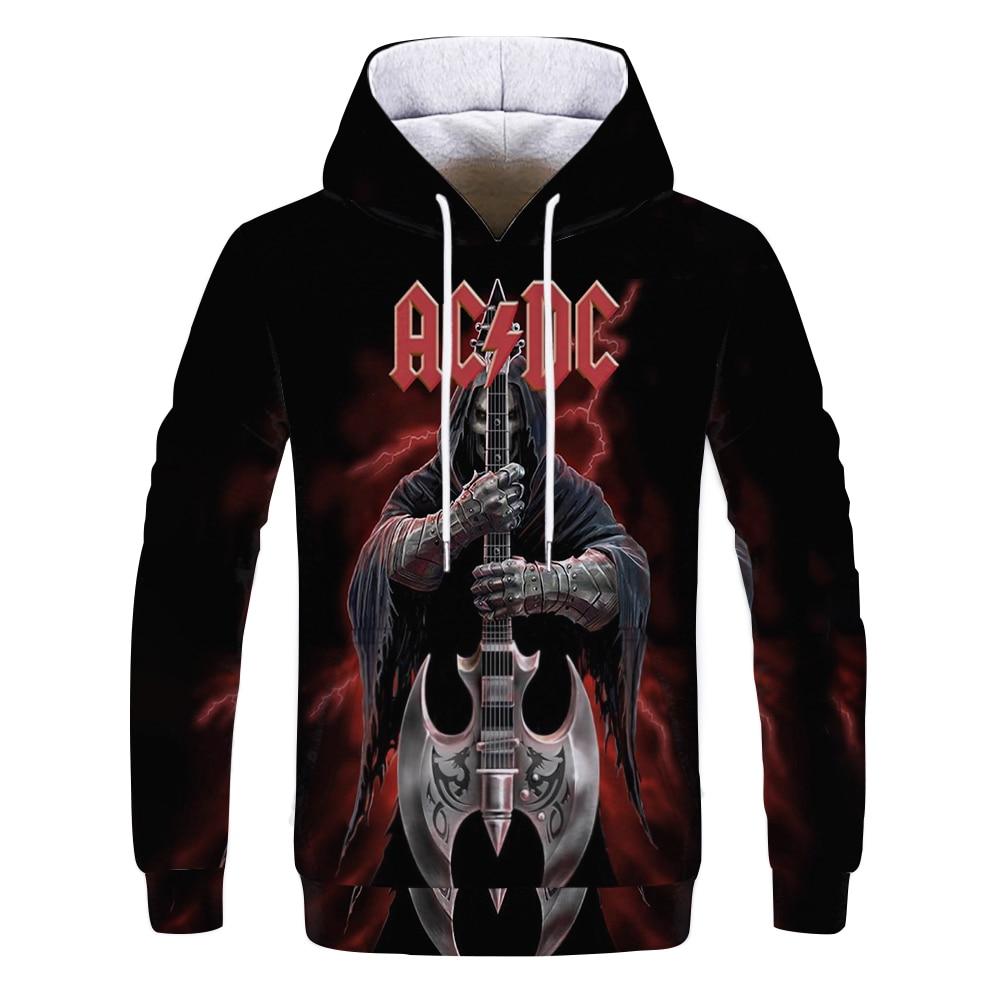 Mens Hoodies 3D Printed AC DC Rock Crime Tops Sweatshirts Men Women's Hoodie Comic Casual Harajuku Tracksuit Streetwear Out Coat