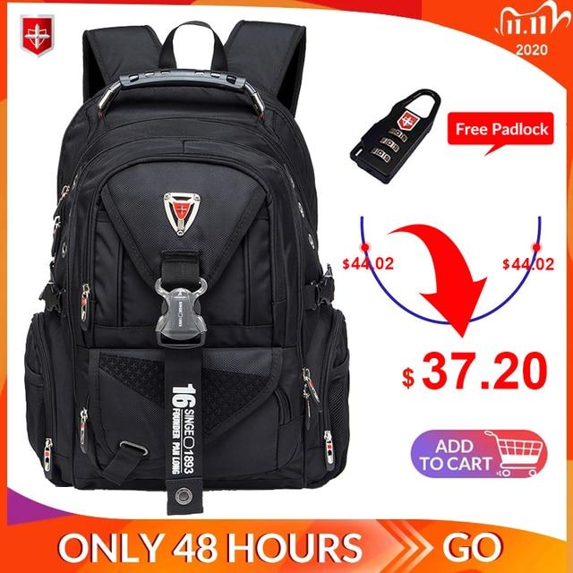 Waterproof Oxford Swiss Backpack Men 17 Inch Laptop backpacks Travel Rucksack Female Vintage School Bags Casual bagpack mochila