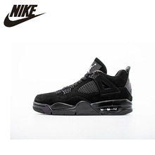Nike Air Jordan 4 AJ4 Nike Man Basketball Shoes Outdoor Shock-absorbing Non-slip Sneakers Original- 308497 nike air jordan 4 original men basketball shoes non slippery wear resisting air cushion outdoor sports sneakers 308497