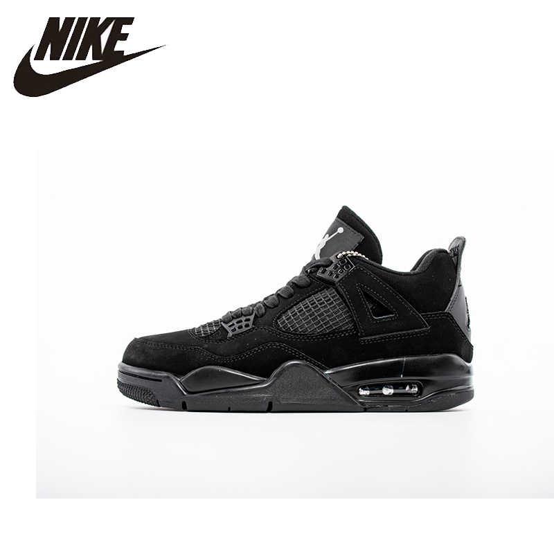 meilleur authentique 6c7ee af49b Nike Air Jordan 4 AJ4 Nike homme chaussures de basket extérieur absorbant  les chocs baskets antidérapantes Original-308497