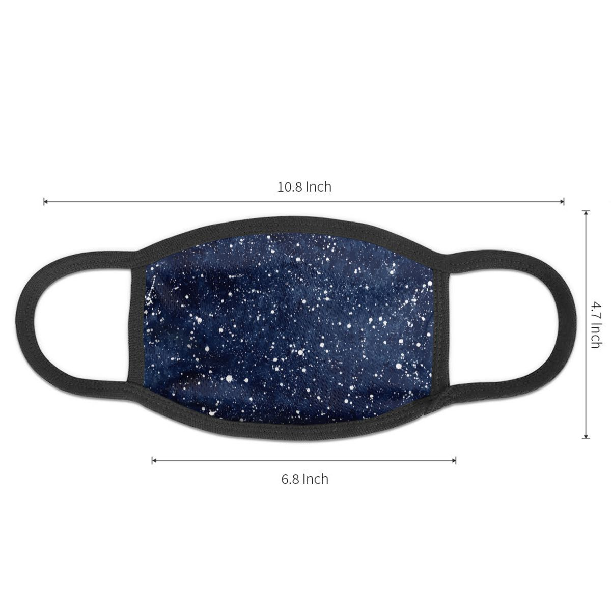 NOISYDESIGNS Dust Mask Cartoon Blue Starry Sky Star Printing Face Mask Anti Mouth Mask Women Men Kpop