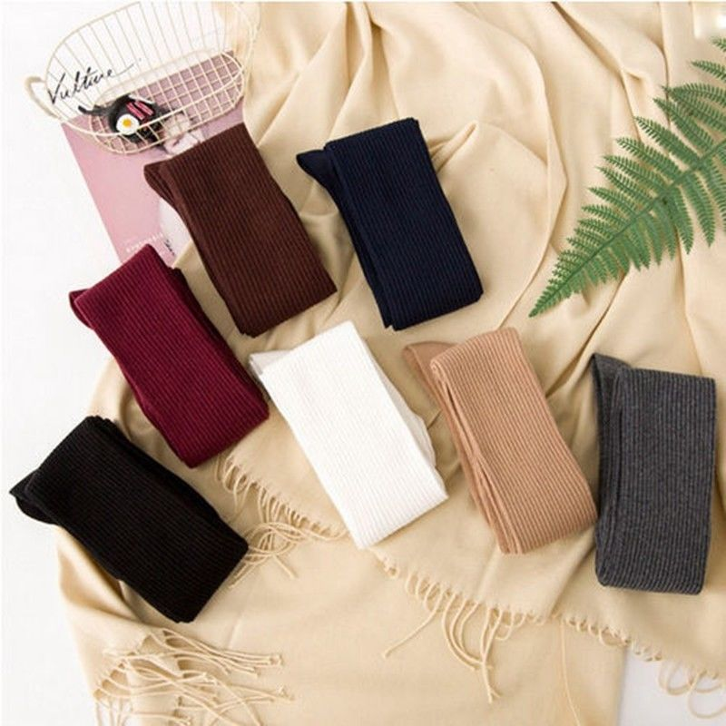 Women Sexy Stocking Warm Knitted Cotton Socks Over The Knee Long Stocking Warm Winter Socks Female High Socks For Girls