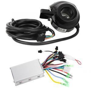Image 2 - 24 V/36 V/48 V 350W فرش تحكم شاشة الكريستال السائل لوحة مع الإبهام خنق مجموعة ل الكهربائية دراجة E الدراجة سكوتر كهربائي