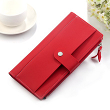 2019 Luxury Brand Women Wallets Long Fashion Fastener Hasp PU Leather