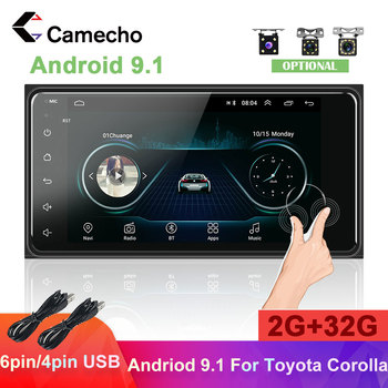 Camecho 2Din Car Radio Android Car Multimedia Player GPS Navigation MP5 2.5D Screen 2din Car Stereo For Toyota Corolla Autoradio image