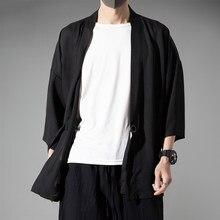 Jaqueta masculina moda retro roupas casaco fino na primavera e no verão estilo chinês algodão linho camisa 2021 bolsos soltos ponto aberto
