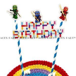 Image 1 - birthday party decoration cake toppers ninjago ninja cartoon cake supplies theme for children baby shower