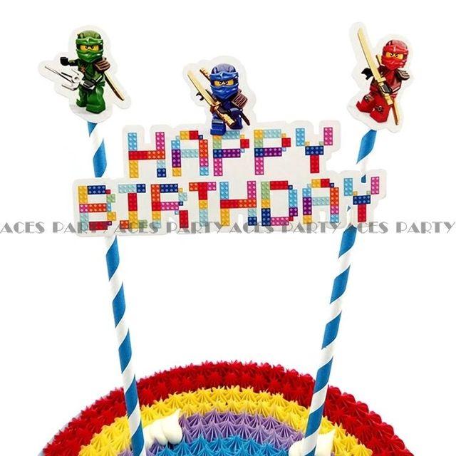 Украшения для дня рождения торта ninjago ninja мультфильм торт поставки тема для детский душ