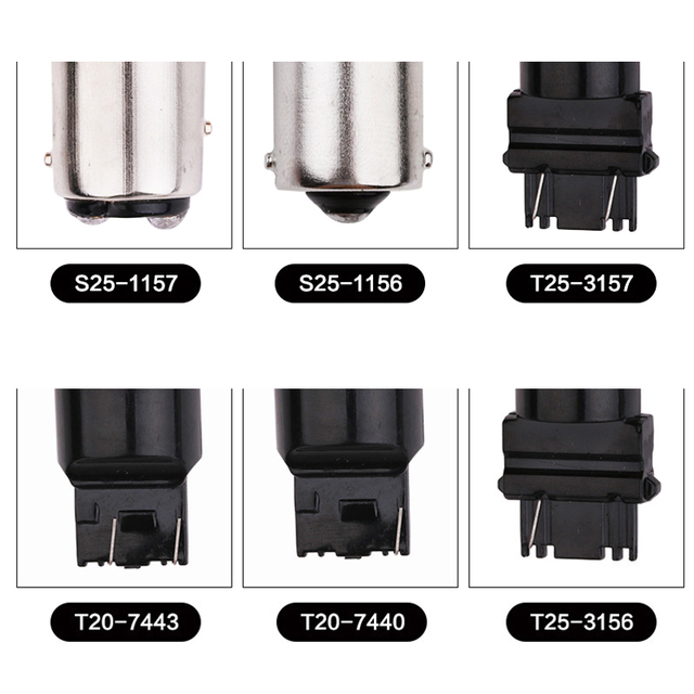 1Pcs 1156 1157 Car Light T20 Led Turn Signals 12V Ba15s P21w Bay15d Py21 5w Auto Lamps T25 Vehicle 3157 7443 Lamp|Signal Lamp|   -