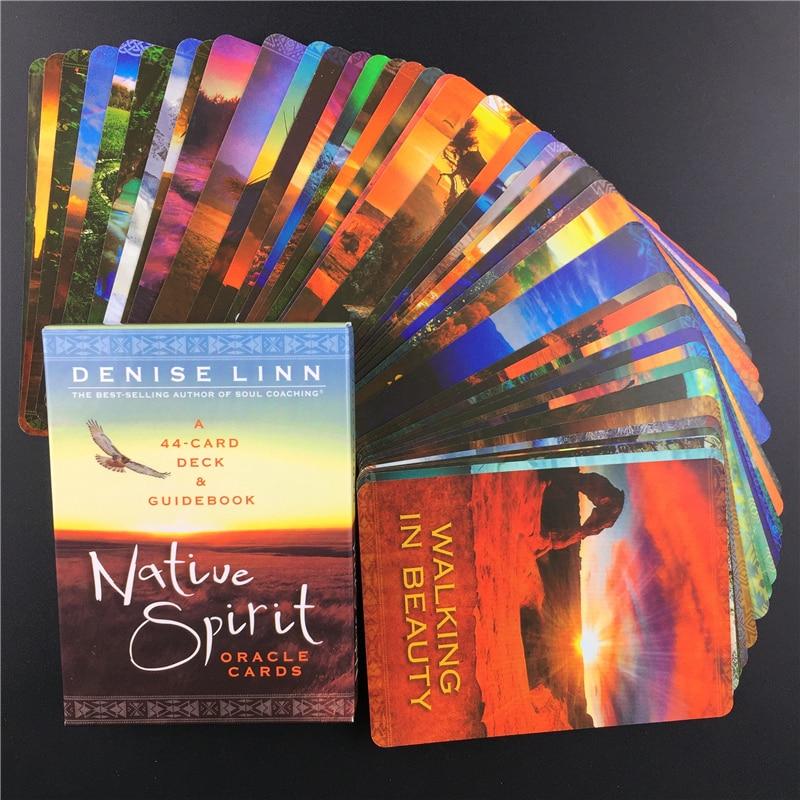 Новинка 2020, набор карт Таро, карты Oracle Native Spirit с английской карточкой PDF Guidebook Magical Divination, настольная игра, карта