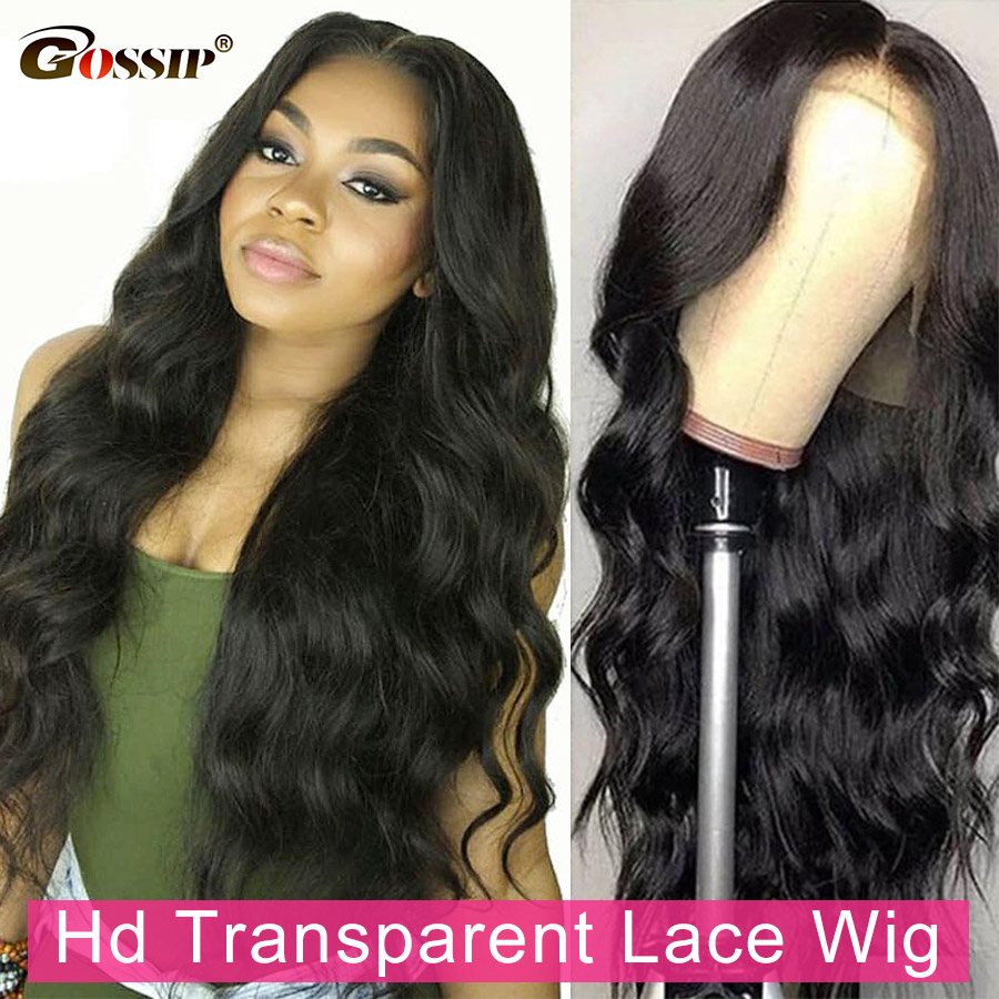 Cheapest 250 Density Lace Wig Glueless Body Wave Lace Front Wig 28 Inch Transparent Lace Human Hair Wig For Women T Part Remy