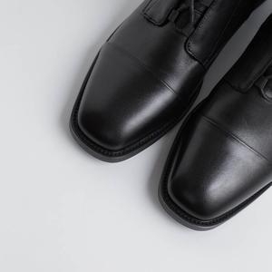Image 5 - Allbitefo 여성을위한 고품질 정품 가죽 frenulum 발목 부츠 겨울 여성 부츠 간결한 숙녀 신발 여자 부츠