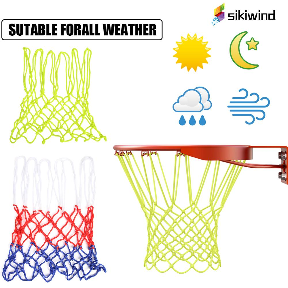 Nylon Standard Basketball Hoop Net 12 Loops Luminous Basketball Net Sun Powered Basketball Hoop Basket Rim Net