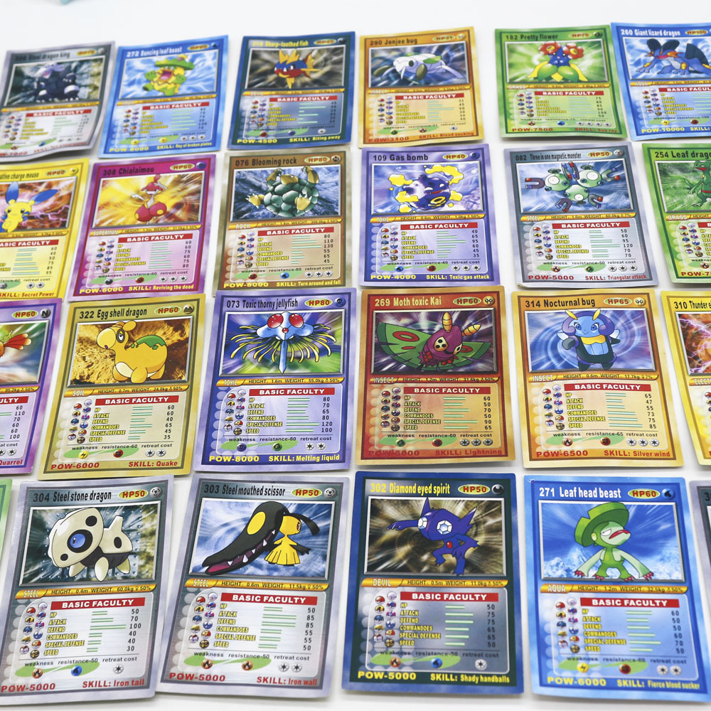 Takara Tomy Pokemon Basic Shining Card With Dolls Collection Toys For Children Battle Trading Figure Game Gold Action Figures