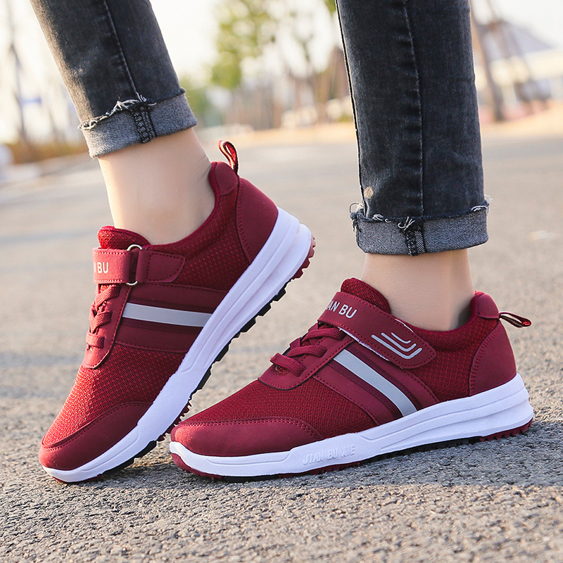 New Style Couples Middle-aged Walking Shoes Comfortable Versatile Mom Shoes Anti-slip-Style Athletic Shoes