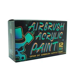 Image 3 - Ofir airbrush acrílico, tinta para pintura de airbrush em couro, modelo de tinta pigmento acrílica para pintura faça você mesmo ta005 (1 12)