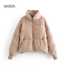 Wixra Women's Jacket New Fashion Trendy Parka Overcoat Solid Warm Outerwear and Coats Winter Ladies Streetwear Casual Clothing
