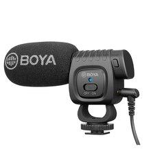 BOYA BM3011 Auf Kamera Rekord Mikrofon für Smartphone DSLR Kamera Canon Sony Nikon 3,5 MM Jack Kalten Schuh Vlog Mic