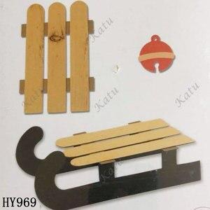 Image 2 - Troqueles de corte de trineo navideño 2019 nuevos troquelados y troqueles de madera adecuados para máquinas de troquelado comunes en el mercado