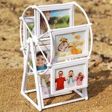 Cadre Photo rotatif de 3 ''| Moulin à vent, combinaison de roues, cadre Photo détachable pour Photo de mariage, décoration de la maison