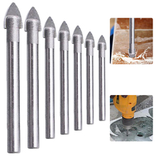 7PCS Triangle Drill Set Reaming Drill Bit 0.3-1.2cm Wear-Resistant And Durable Cemented Carbide Round Shank Slotted Drill Bit