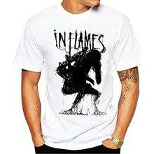 2021 moda lazer 100% algodão o-pescoço camiseta engravados homens mulheres novidade em chamas criatura