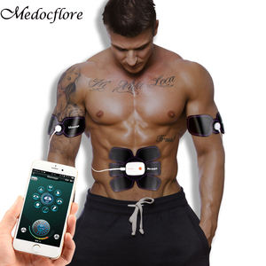 Image 1 - Bluetooth Steuer Smart Fitness Bauch Training ZEHN Muscle Stimulator EMS Arme Massager Elektrische Gewicht Verlust Körper Maschine