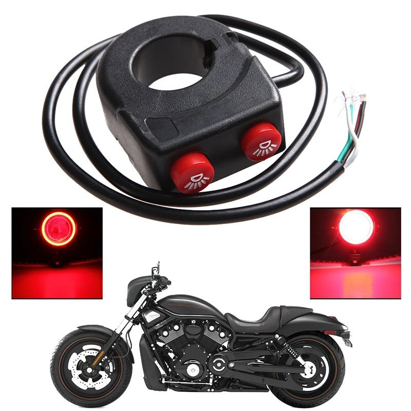 7/8'' Pit Dirt Motorcycle Bike Handlebar On Off Button Head Fog Light Switch New N84F