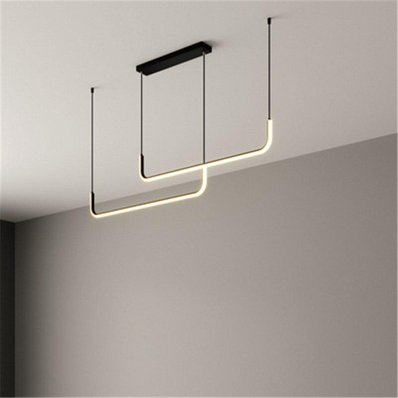 Plafonnier Led suspendu au design minimaliste moderne, luminaire décoratif de plafond, idéal pour une salle à manger ou un Bar