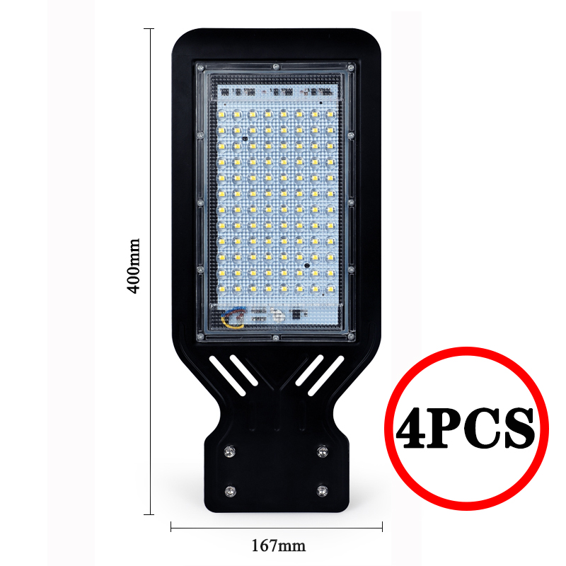 Solar thin Led street light sconces garden parking Waterproof IP65 100W outdoor Road lamp Wall spotlight torch AC110V 220V 1