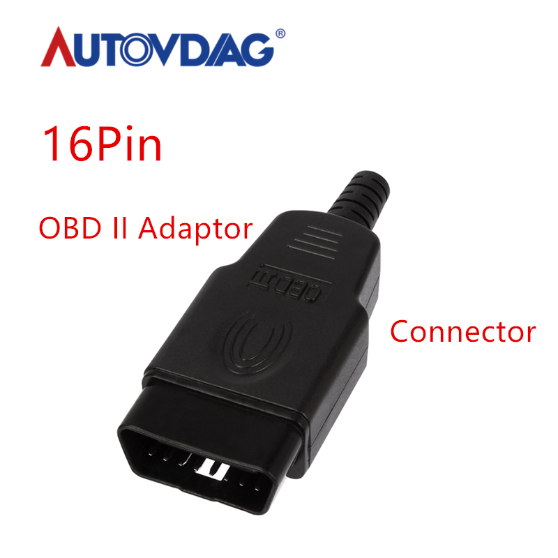Car-Diagnostic-tool OBD Male Female Plug OBD2 16Pin Connector OBD II Adaptor OBDII Connector J1962 OBD2 Connector In Stock