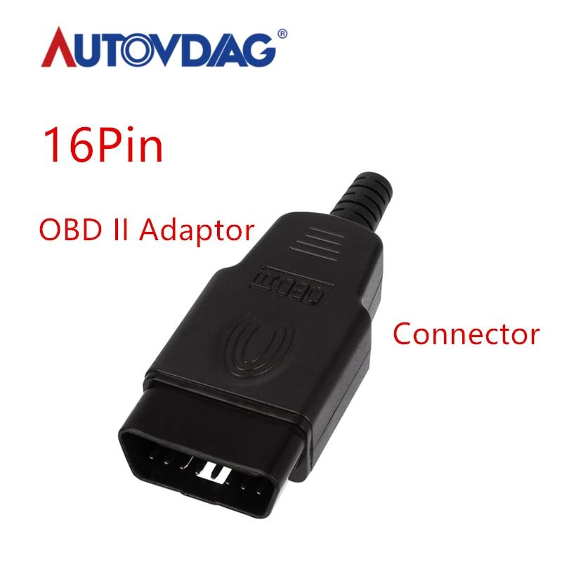 Car-Diagnostic-tool OBD Male Female Plug OBD2 16Pin Connector OBD II Adaptor OBDII Connector J1962 OBD2 Connector In Stock