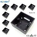 8 pçs/lote nobre preto cozimento externo caixa de montagem 86mm tipo ue/reino unido parede soquete montagem cassete
