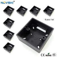 8pcs / lot Noble Black Baking external mounting box 86mm type EU/UK wall socket mounting cassette