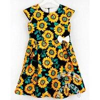 Dress for the girl Sunflowers, demavi. cotton girls dress, kids clothing