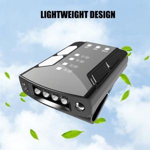 Clipping Hat Sensory Cap Light 6 LED Hat Lamp USB Rechargeable Adjustable Headlamp KSI999