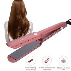 CkeyiN Titanium Alloy prostownice lokówka do włosów regulacja temperatury prostownica prostownica szeroki talerz włosów narzędzia do salonu