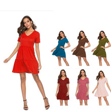 Daily suit OWLPRINCESS 2020 Spring and Summer New Casual Loose Dress Solid color