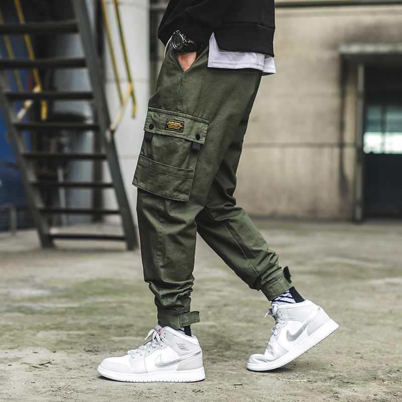 2019 Spring Exterior INS Japanese-style Velcro Free Pants MEN'S Overalls