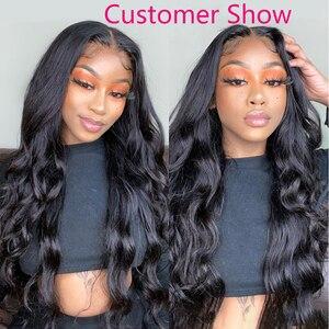 "Image 5 - Zhuomei Beauty Body Wave Bundels Met Frontale P Braziliaanse Haar 3 Bundels Met Frontale Sluiting Remy Human Hair 8  30inch 32 34 36"""