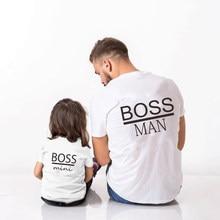Camiseta de manga corta de algodón para padre e hija, ropa a juego para Familia, patrón de padre e hija, padre e hija