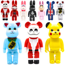 Brick Street Art 400% Bear Vinyl Doll Collections Model Toys Action Figure Decorations Statue Bear Dolls Gifts