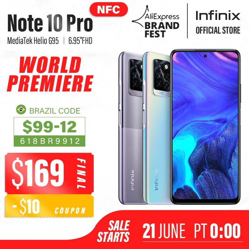 Смартфон Infinix Note 10 Pro, NFC, 33 Вт, 8-ядерный Helio G95, 6,95 дюйма, 90 Гц