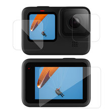 3 pçs/set Vidro Temperado para GoPro Herói Protetor de Tela Glas Protetora para Go pro Hero8 9 Preto