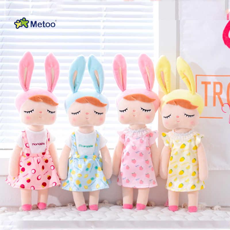 Metoo Оригинальные Плюшевые игрушки Анжела Куклы Мягкие животные с коробкой Туалетная Кукла Кролик Милый Мечтая девочка подарок для детей Дети