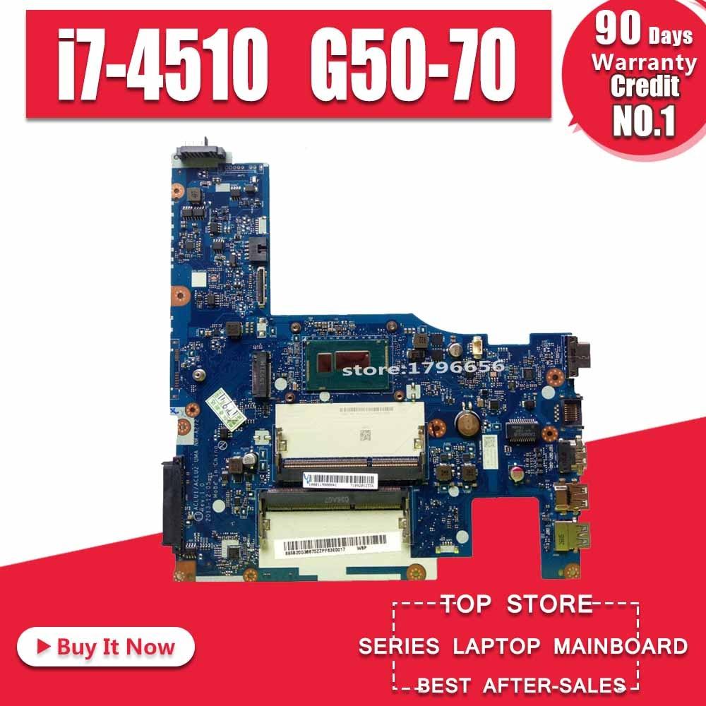 x200la материнская плата - 5B20G36670 ACLU1/ACLU2 NM-A272 NM-A362 i7-4510 For Lenovo G50-70 G50-70M Z50-70 G50-80 Laptop Motherboard