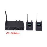 نظام مراقبة لاسلكية ستيريو ANLEON S2 UHF 670-680 ميجاهرتز احترافي رقمي نظام مراقبة داخل الأذن 2 جهاز استقبال