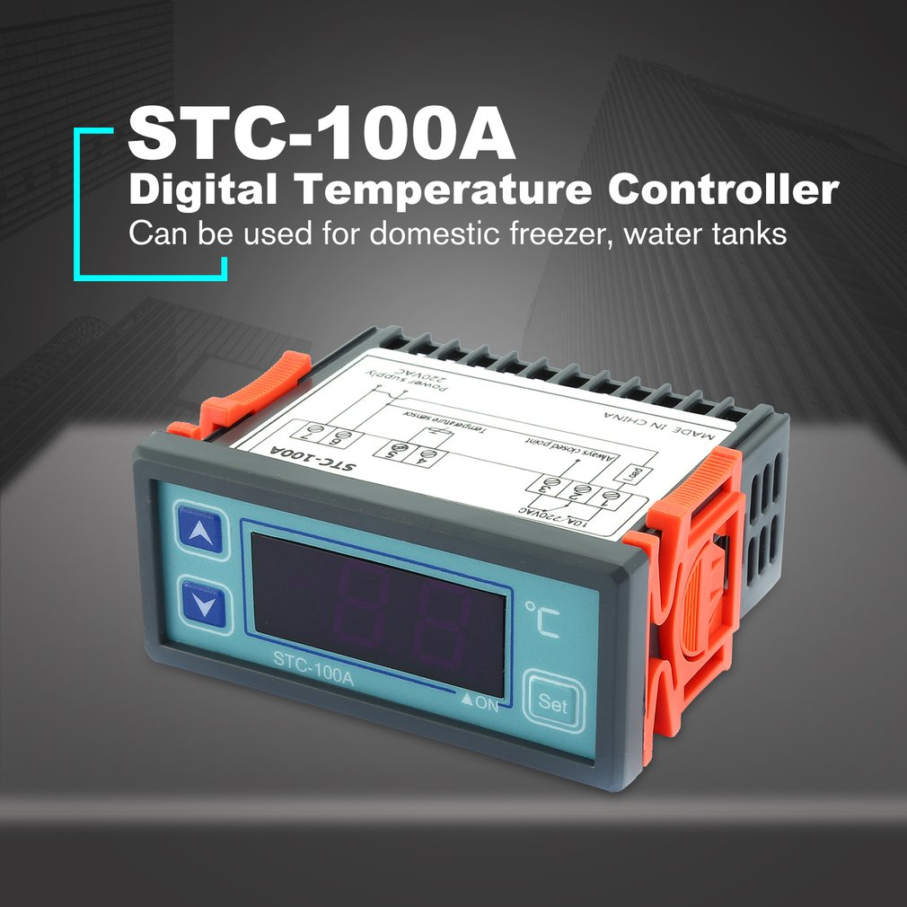 Digital Temperature Controller Cool Heat Refrigerator Thermostat Regulator Thermoregulator Thermocouple Sensor STC-100A Hot