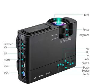 Image 5 - Powerful LED Projector T5 2600 Lumens Video Beamer Android 6.0 WIFI Wireless Sync Display For Phone mini Proyector Home Theater