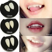 2Pcs Halloween Spoof Toy Cosplay Vampires Zombie Realistic Dentures Fangs Masquerade Scary Props